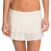 Body Glove Lambada Skirt Bathing Suit Cover Up, Ivory, medium