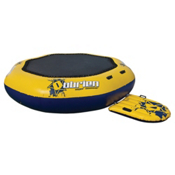 O'Brien Super Bouncer Inflatable Island Bounce Platform, Yellow-Blue, medium
