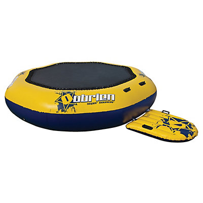 O'Brien Super Bouncer Inflatable Island Bounce Platform, Yellow-Blue, viewer