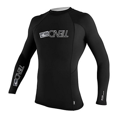 O'Neill Skins Long Sleeve Crew Mens Rash Guard, , large
