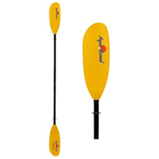 AquaBound Sting Ray Fiberglass 2-Piece Kayak Paddle 2017, Yellow, medium