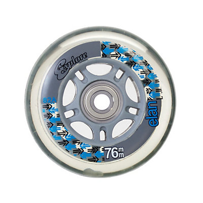 Explore Elan 76mm Inline Skate Wheels with ABEC 7 Bearings - 8 Pack, , viewer
