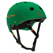 Pro-Tec The Classic Mens Skate Helmet, Matte Rasta Green, medium