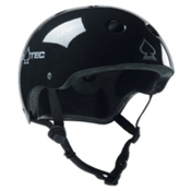 Pro-Tec The Classic Mens Skate Helmet 2017, Gloss Black, medium