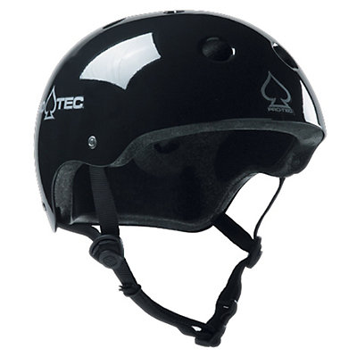 Pro-Tec The Classic Mens Skate Helmet, Gloss Black, viewer