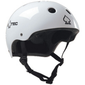 Pro-Tec The Classic Mens Skate Helmet 2013, Gloss White, medium