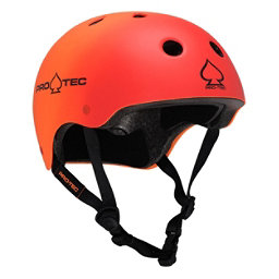 Pro-Tec The Classic Mens Skate Helmet 2017, Red-Orange Fade, 256