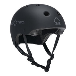 Pro-Tec The Classic Mens Skate Helmet 2017, Rubber Black, 256