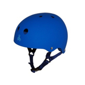 Triple 8 Brainsaver Sweatsaver Mens Skate Helmet, Royal Blue Rubber, medium