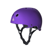 Triple 8 Brainsaver Sweatsaver Mens Skate Helmet, Purple Glossy, medium