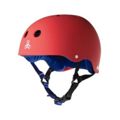Triple 8 Brainsaver Sweatsaver Mens Skate Helmet, United Red Rubber, medium