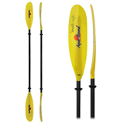 AquaBound Swell FG 2-Piece Small Shaft Kayak Paddle, Yellow, viewer