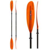 AquaBound Swell FG 2-Piece Small Shaft Kayak Paddle, Sunset Orange, medium
