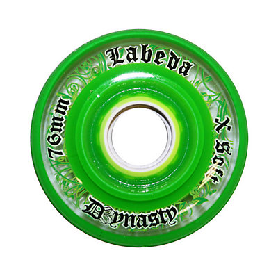 Labeda D3 Dynasty X Soft Inline Hockey Skate Wheels - 4 Pack, Clear-Green, viewer