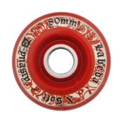 Labeda D3 Dynasty X Soft Inline Hockey Skate Wheels - 4 Pack, Clear-Red, medium