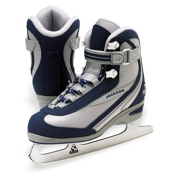 Jackson Softec Classic Youth Girls Figure Ice Skates, Navy-Silver, medium