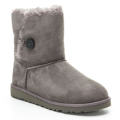 UGG Bailey Button Girls Boots, Grey, medium