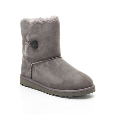 UGG Bailey Button Girls Boots, Grey, viewer