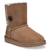 UGG Bailey Button Girls Boots, Chestnut, medium