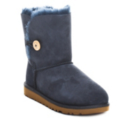 UGG Australia Bailey Button Girls Boots, Navy Blue, medium