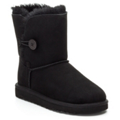 UGG Bailey Button Girls Boots, Black, medium