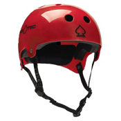 Pro-Tec Classic Bucky Mens Skate Helmet, Translucent Red, medium
