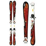 K2 T:Nine Burnin Luv Womens Skis with ERS 11.0 TC Bindings