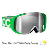 POC Cornea Goggles 2013, Green White-Clear Silver Mirror, medium