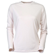 Hot Chillys PeachSkin Crewneck Womens Long Underwear Top, Ivory, medium
