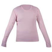 Hot Chillys Pepperskin Jr Girls Long Underwear Top, Pink, medium