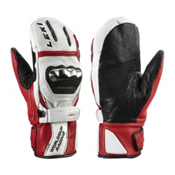 Leki World Cup Racing Titanium S Ski Racing Mittens, White-Black-Red, medium