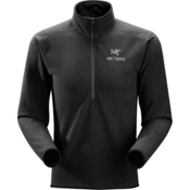 Arc'teryx Delta AR Zip Neck Mens Mid Layer, Black, medium