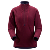 Arc'teryx Delta AR Zip Neck Fleece Womens Mid Layer, Kalamata, medium