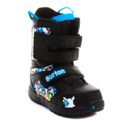 Burton Grom Kids Snowboard Boots, Black-White-Multi, medium