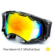 Oakley Splice Goggles 2014, Jet Black-Fire Iridium, medium