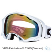 Oakley Splice Goggles 2014, Polished White- VR50 Pink Iridium, medium