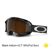 Oakley Splice Goggles 2013, Silver Factory Text-Black Iridium, medium