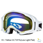 Oakley Splice Goggles 2014, Polished White-H.i. Yellow, medium