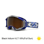 Oakley Splice Goggles 2013, Tech Blue Plaid-Black Iridium, medium