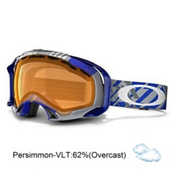 Oakley Splice Goggles 2014, Tech Blue Plaid-Persimmon, medium