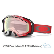Oakley Splice Goggles 2014, Half Tone Red White-Vr50 Pink Iridium, medium