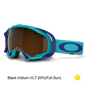 Oakley Splice Goggles, Turquoise-Black Iridium, medium