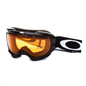 Oakley Elevate Womens Goggles, Jet Black-Persimmon, medium