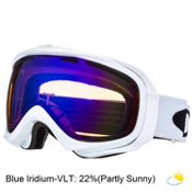 Oakley Elevate Womens Goggles 2014, Polished White-Blue Iridium, medium