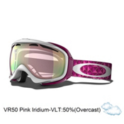 Oakley Elevate Womens Goggles 2014, White Lava Studs-VR50 Pink Iridium, medium