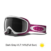 Oakley Elevate Womens Goggles 2013, White Lava Studs-Dark Grey, medium