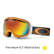 Oakley Elevate Womens Goggles 2013, Freedom Plaid Neon Fire-Fire Iridium, medium