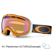 Oakley Elevate Womens Goggles 2013, Freedom Plaid Neon Fire-H.i. Persimmon, medium