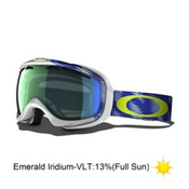 Oakley Elevate Womens Goggles 2014, Snotrac White Eclipse-Emerald Iridium, medium