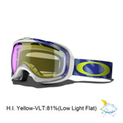 Oakley Elevate Womens Goggles 2014, Snotrac White Eclipse-H.i. Yellow, medium